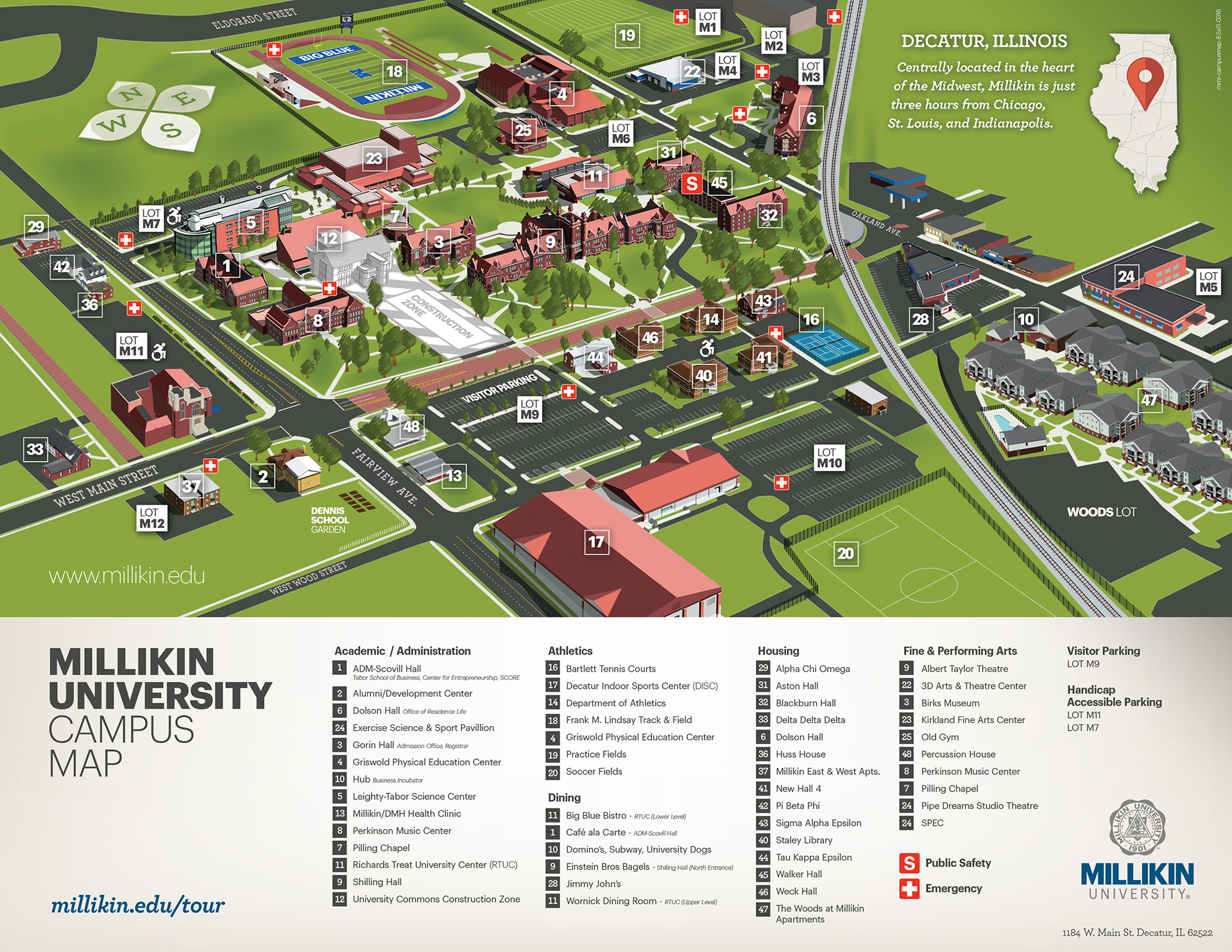 Millikin University Campus Map